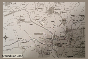 Map Costa Rica San Jose and Vicinity